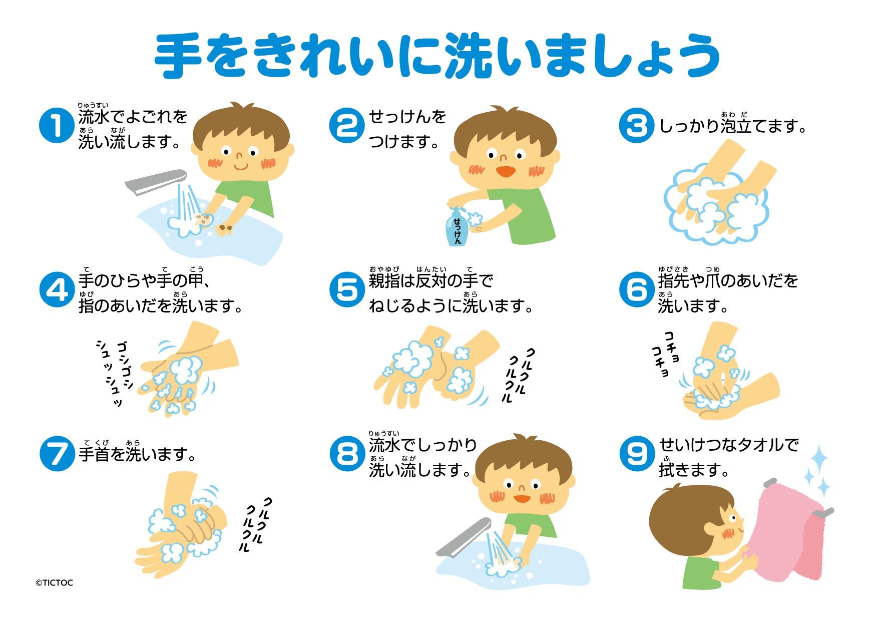 DL素材/手をきれいに洗いましょう